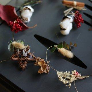 クリスマスガーランド:野花のガーランド