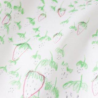 いちご畑とウサギ(へたいっぱい)