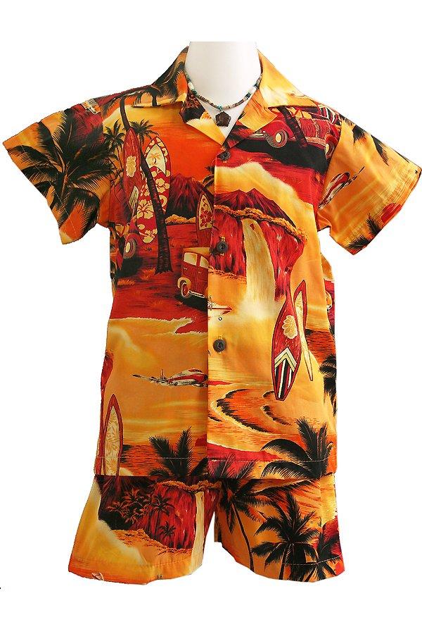 Boysアロハシャツスーツ(サンセットビーチ)