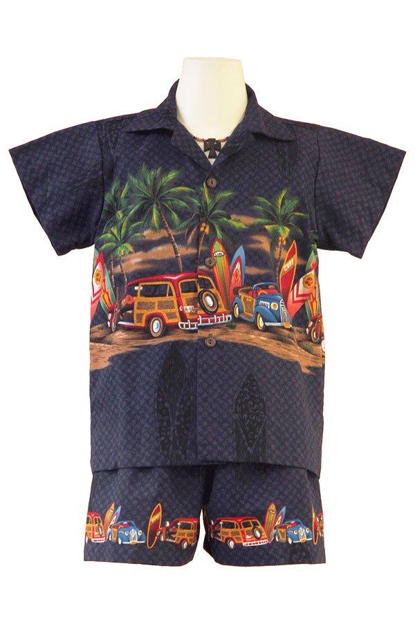 Boysアロハシャツスーツ(クラシック・ダークブルー)