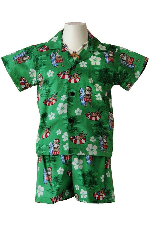Boysアロハシャツスーツ(カリキマカ・グリーン)