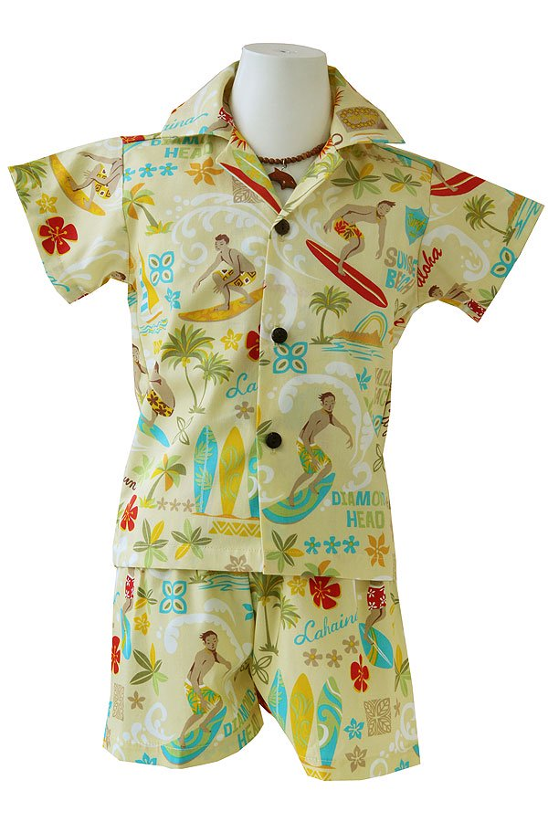 Boysアロハシャツスーツ(カハカイ・クリーム)