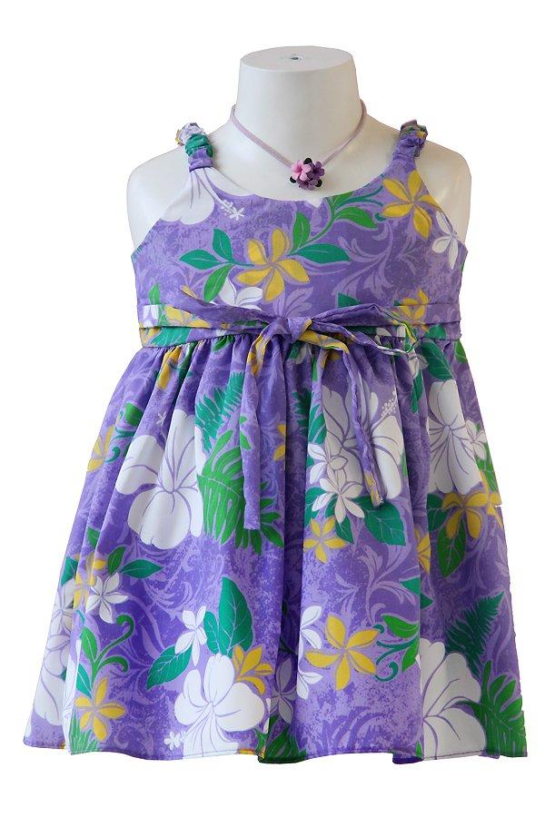 Girlsアロハエラスティックドレス(カウピリ・グレープ)