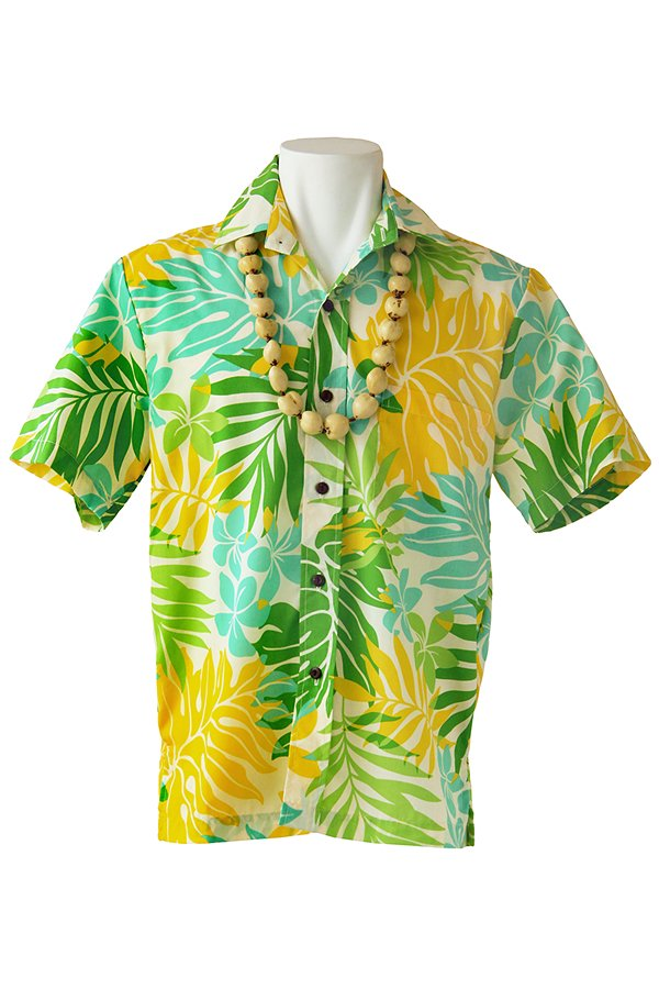 Ocean's & It  メンズアロハシャツ(モンステラ・グリーン)