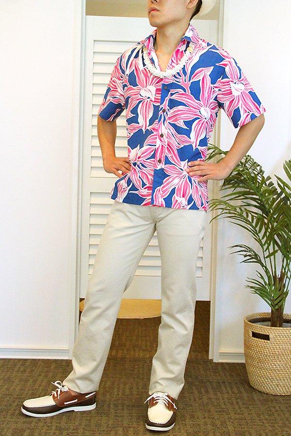 Ocean's & It  メンズアロハシャツ(キー・ストロベリー)