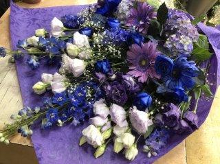 花束 青紫系