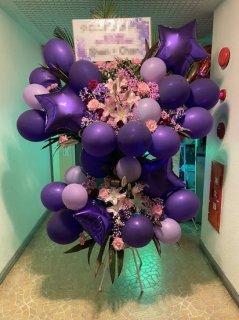 紫系バルーンスタンド