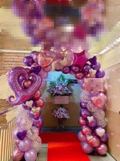 バルーンアーチ 紫系