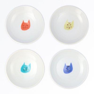 ネコ豆皿 4pcsセット