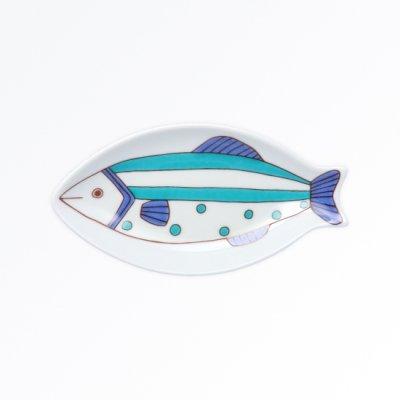 小ザカナ皿[青]