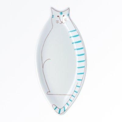 ネコ皿[緑]