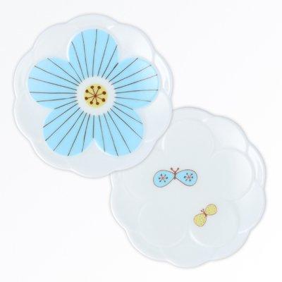 ハナ小皿 2pcsセット[青]