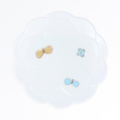 チョウ取り皿[青]