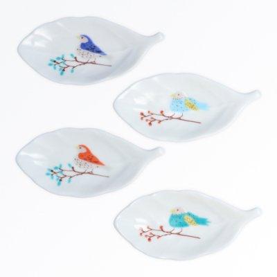 鳥と木葉 4pcsセット