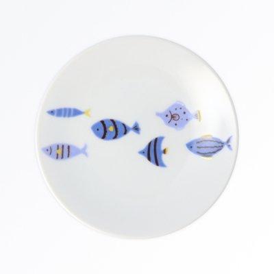 青い魚 銘々皿