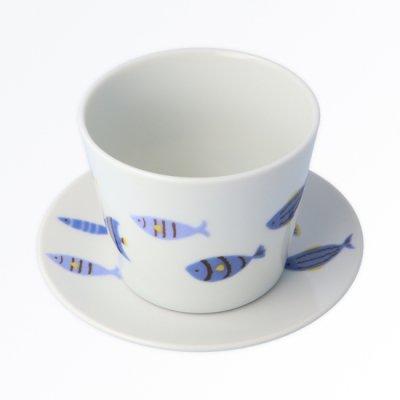 青い魚 カップ&ソーサー