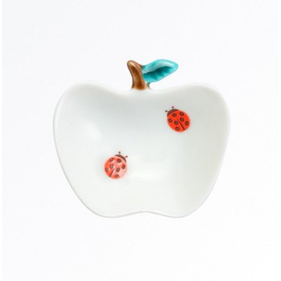 りんご小皿[てんとう虫]