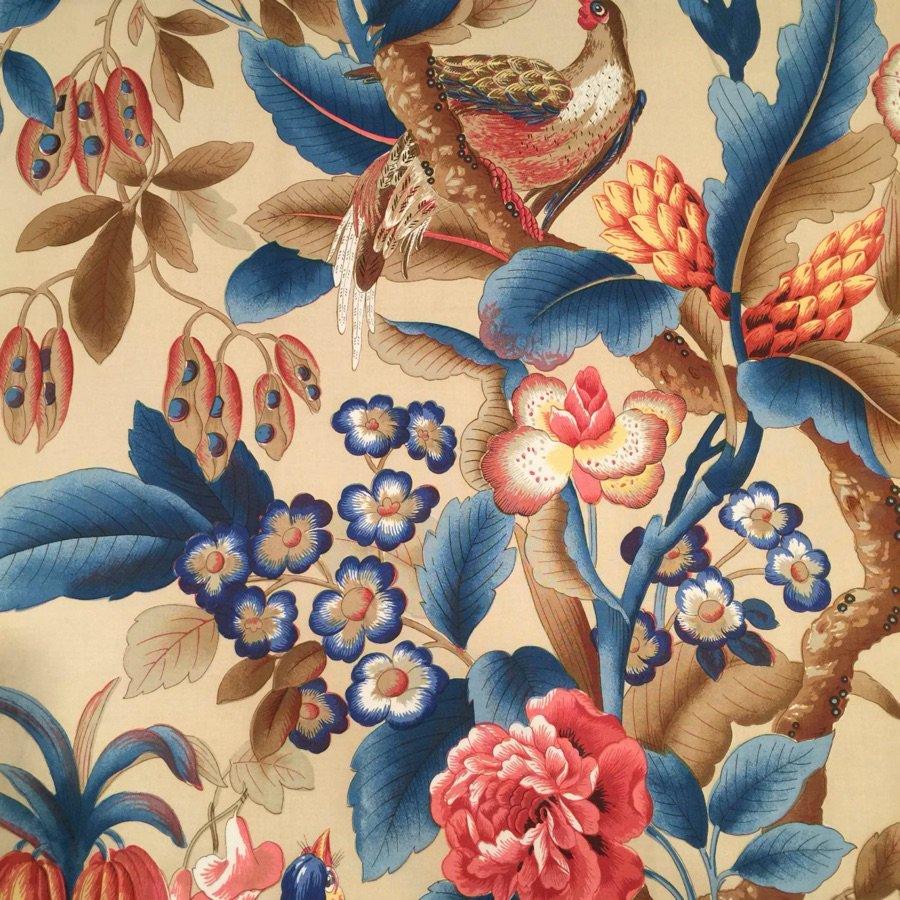 fabric/ファブリック/生地 平織り コットン100% プリント 《キジ》 マルチ by Charles Burger (シャールブルジェ)