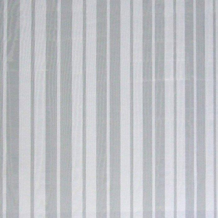 フランス生地 防炎加工 モアレ ストライププリント 《エレン》 クリーム & グレー