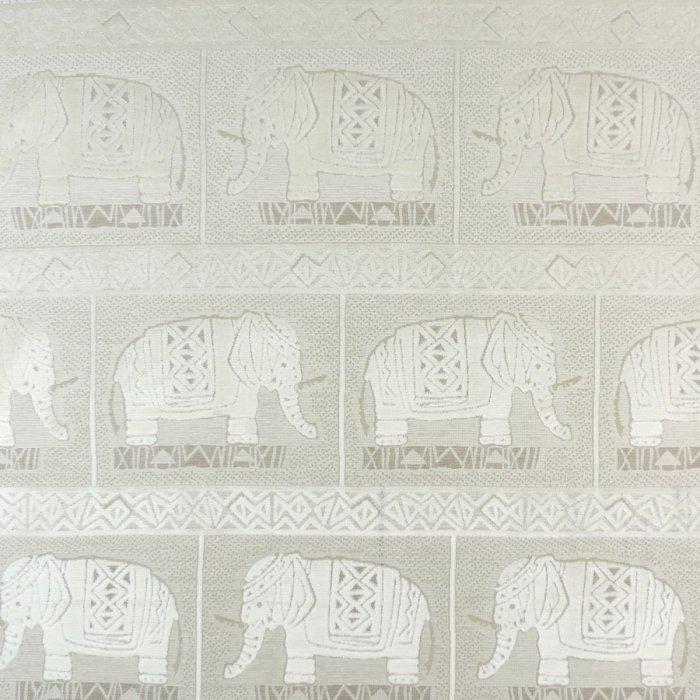 フランス生地 ベルベット 動物ジャカード 《ハンニバル》 ホワイト