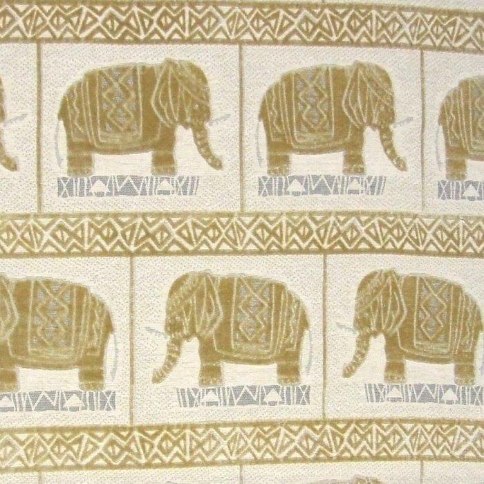 フランス生地 ベルベット 動物ジャカード 《ハンニバル》 ゴールド