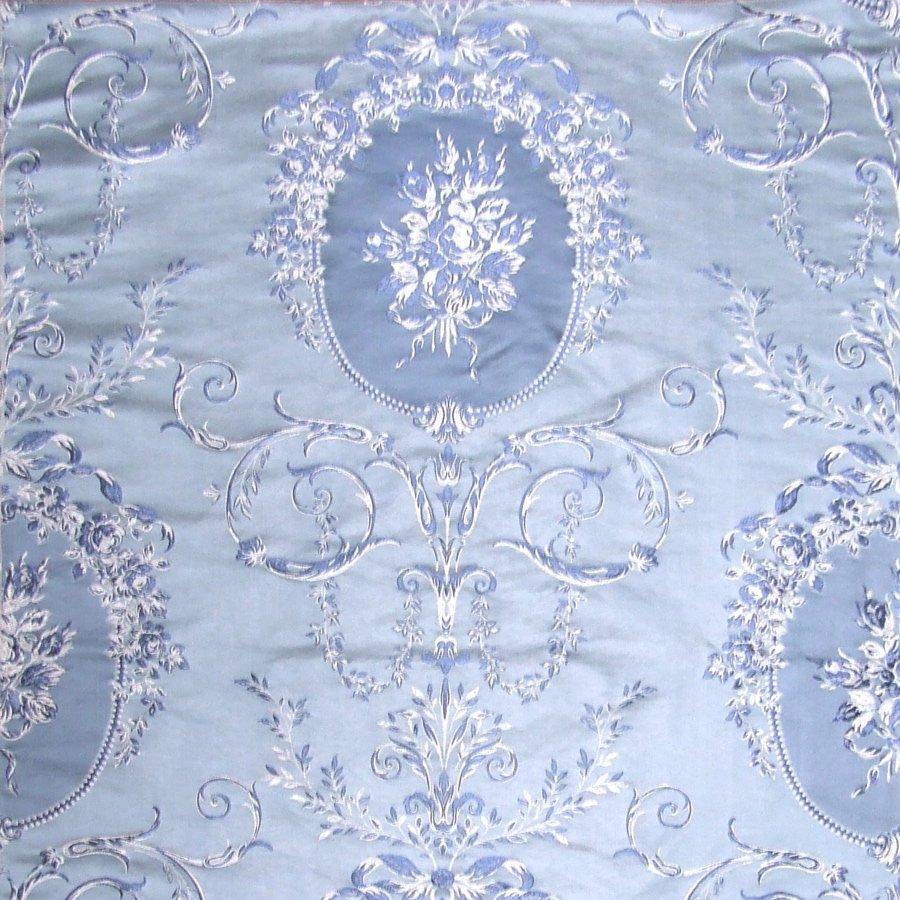 fabric/ファブリック/生地 コットンビスコース ダマスクジャカード 《大トリアノン》 ブルー by Charles Burger (シャールブルジェ)
