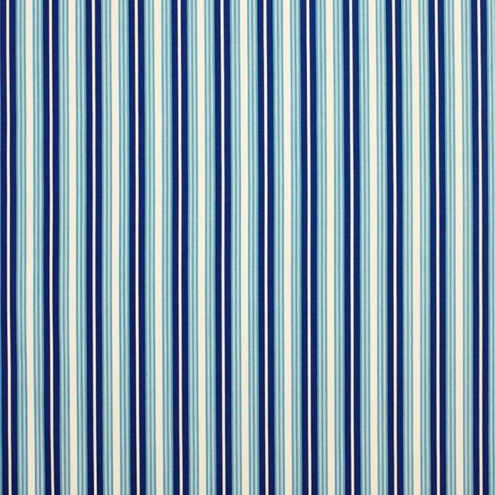 インテリアファブリック ストライプ平織りプリント スタール ブルー