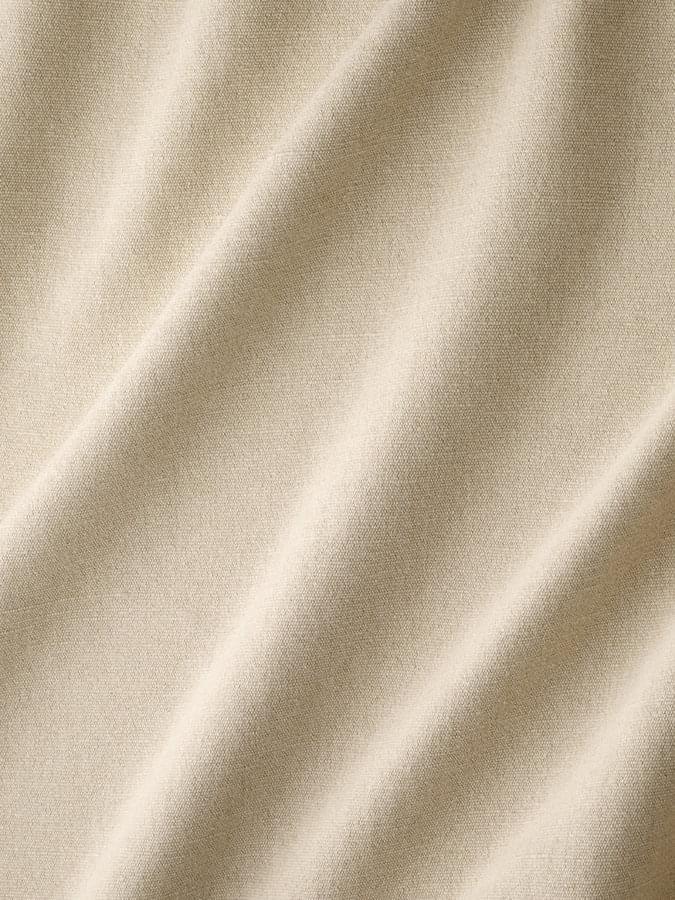 インテリアファブリック コットンリネンドレープ無地  ビバーク ホワイト