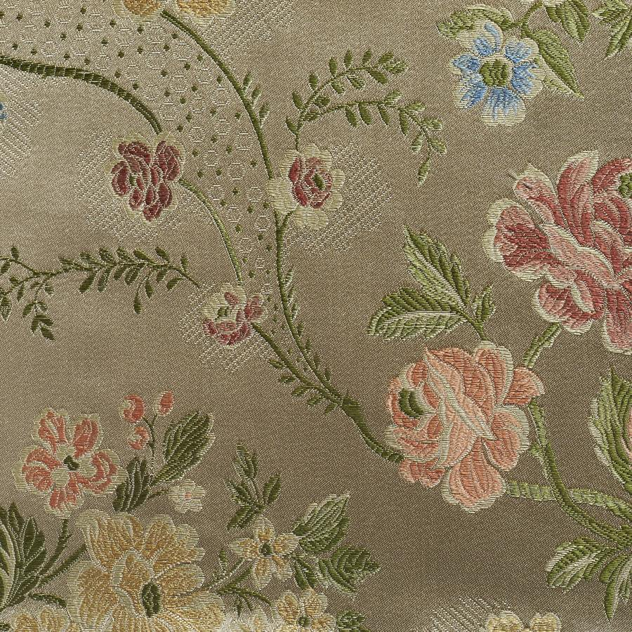インテリアファブリック ルイ15世 フラワーシルクジャカード マシロン