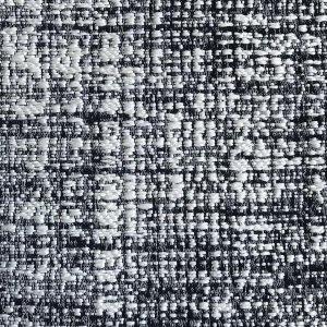 フランス生地 防炎加工 ジャカード 無地/幾何学 《マドモアゼル》 ブラック & ホワイト