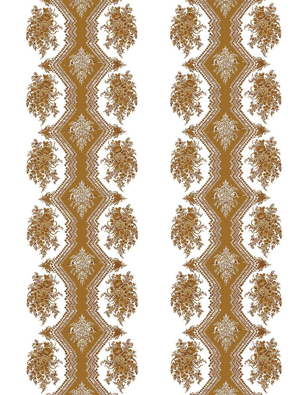フランス壁紙 フリース(不織布) - 防炎加工 マドレーヌ・カスタン デザイン 《コッペリア》 ブラウン