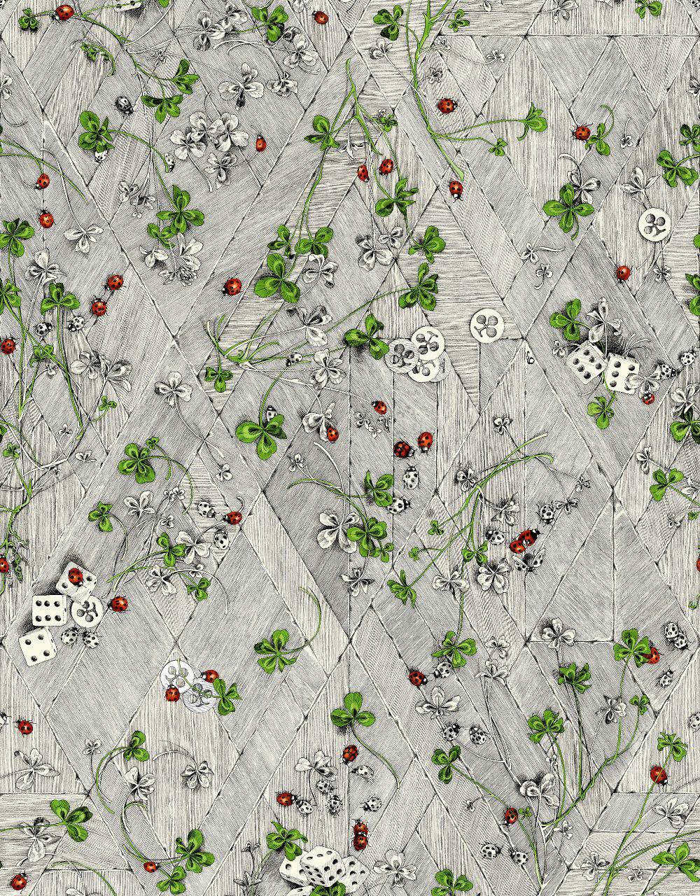 フランス壁紙 フリース(不織布) - 防炎加工 by キャサリン・グラン 《シャンス》 マルチ