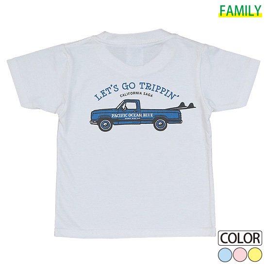 Kid's LET'S GO TRIPPIN' (blueカー) Tシャツ
