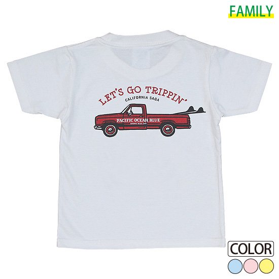 Kid's LET'S GO TRIPPIN'-Red CAR Tシャツ