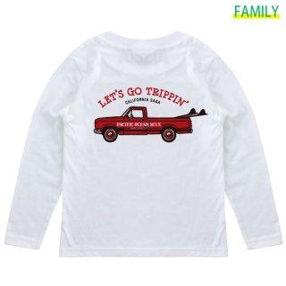 Kid's LET'S GO TRIPPIN' (redカー) ロンT