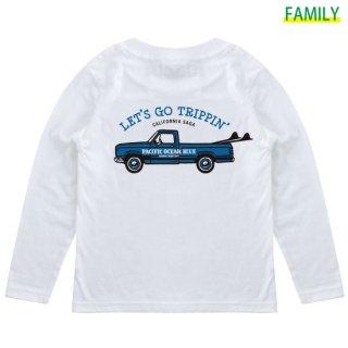 Kid's LET'S GO TRIPPIN' (blueカー) ロンT