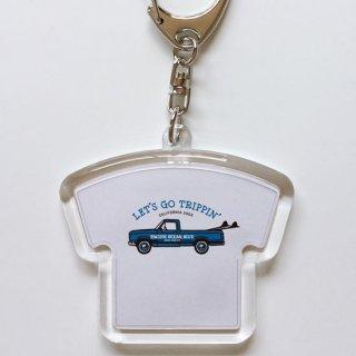 LET'S GO TRIPPIN' (blueカー) キーホルダー