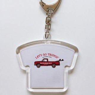 LET'S GO TRIPPIN' (redカー) キーホルダー