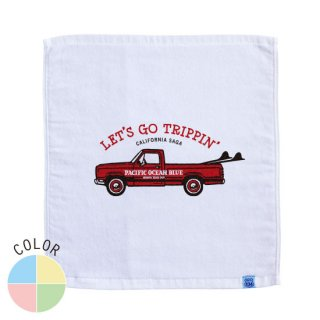 LET'S GO TRIPPIN' (redカー) ハンドタオル