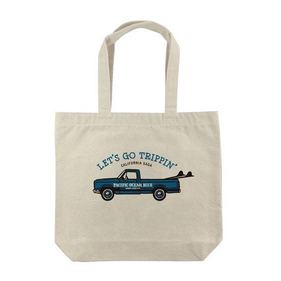 LET'S GO TRIPPIN' (blueカー) トートバッグ