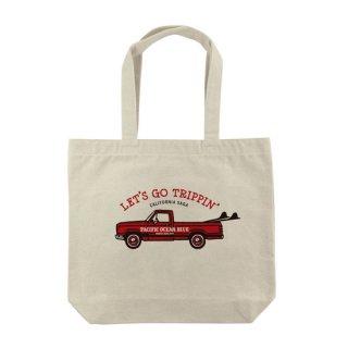 LET'S GO TRIPPIN' (redカー) トートバッグ