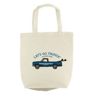 LET'S GO TRIPPIN' (blueカー) エコバッグ