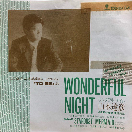 山本達彦 / WONDERFUL NIGHT / STARDUST MERMAID ( Promo Only )
