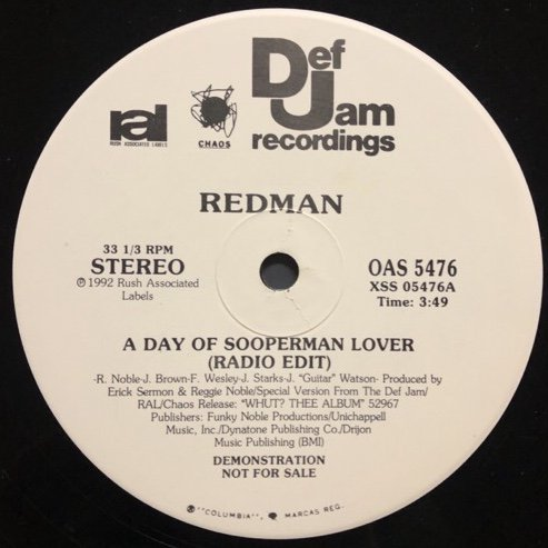 REDMAN / A DAY OF SOOPERMAN LOVER (PROMO)