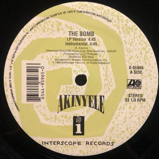 AKINYELE / THE BOMB ( 93 US Original )