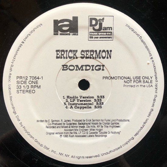 ERICK SERMON / BOMDIGI (PROMO)