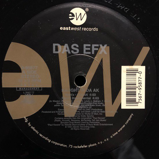 DAS EFX / KAUGHT IN DA AK (93 US ORIGINAL)
