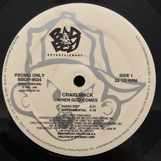 CRAIG MACK / WHEN GOD COMES (95 US PROMO ONLY)