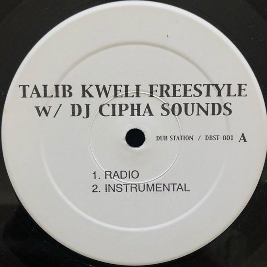 TALIB KWELI w/ DJ CIPHA SOUNDS / FREESTYLE ( US PROMO RARE PRESSING)