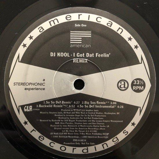 DJ KOOL / I GOT DAT FEELIN' (REMIX)(PROMO)